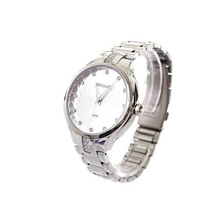 Relógio Feminino Seculus 28619L0SVNS3 Analógico Pulseira de Aço Prata