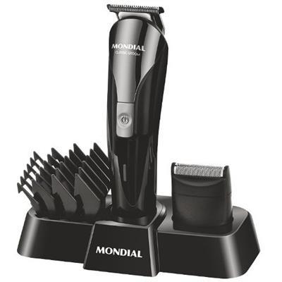 Conjunto Barber Especial Mondial KT72 10W 4 Pentes 110V Preto