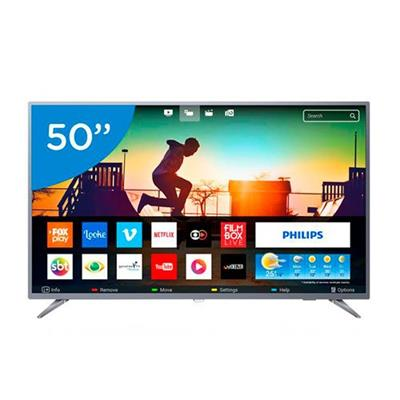 SMART TV 50 LED ULTRA HD PHILIPS 50PUG6513/78 3HDMI/ 2USB/ 1VIDEO COMPOSTO/ 1 VIDEO COMPONENTE/ LAN