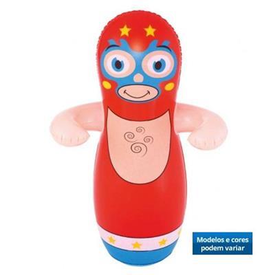 Brinquedo João Bobo Lutador Teimoso Inflável Belfix 105600 Plástico