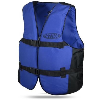 Colete Salva-Vidas Canoa Ativa Até 40kg Azul