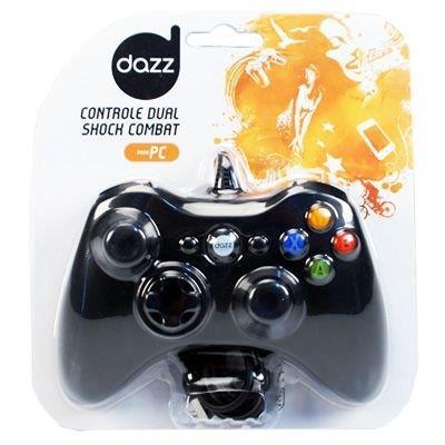 Controle para PC Dazz Dual Shock Combat 621246 USB Vibração Preto (Max)