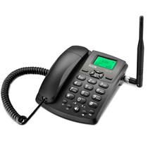 TELEFONE CELULAR RURAL FIXO GSM 100 PARA 1 SIM CARD PRETO