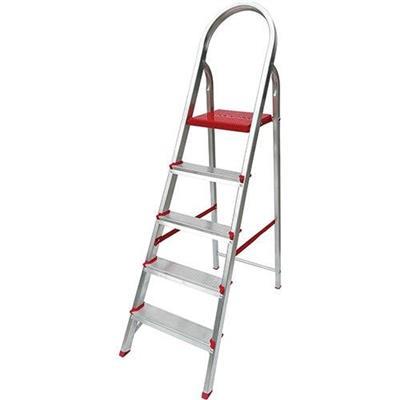 Escada Dobrável 5 Degraus Botafogo ESC0064 Alumínio