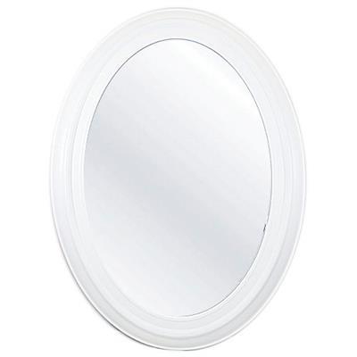 Espelho Oval de Vidro com Moldura de Plástico Latcor P201666 Branco