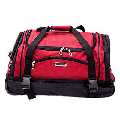Bolsa Latcor NF-S14001-24 com 2 Rodas Tamanho 24 Poliéster Preta e Vermelha