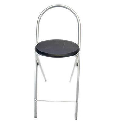 Cadeira Latcor 170C-BLK Preto Aço Cromado MDF Preto