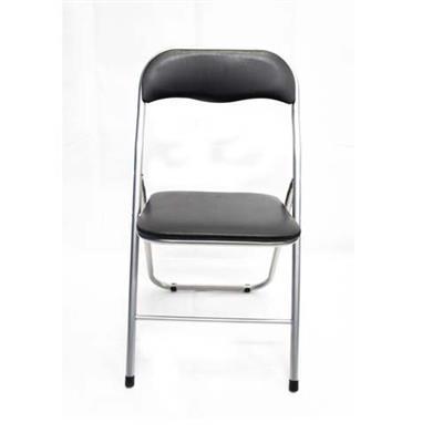 Cadeira Dobrável Latcor 018YT-BLK Não Estofada com Armação de Aço Preto