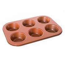 Forma para 6 Cupcakes Mimo 6120 Silicone Bronze