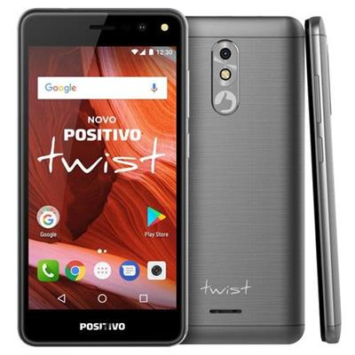 Smartphone Positivo Twist 2017 S511 3G 2 Chips Tela 5 Câmera 8MP Frontal 5MP Android 7 Cinza