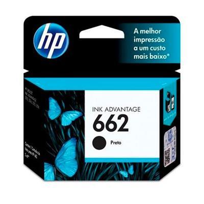 Cartucho de Tinta para Impressora HP 662 CZ103AB Preto