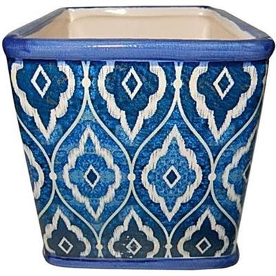 CACHEPOT URNA SQUARED MARROCAN BLUE 13,3 X 13,3 X 12,5 CM
