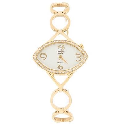 9395e53b6 Relógio Feminino Champion CA29260W Analógico com Kit de Joias Pulseira de  Aço Dourado