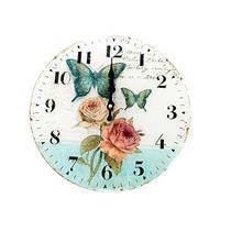 Relógio de Parede Latcor LA3-3777 com Maquinismo Pequeno Ilustração Rosas