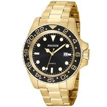2235b3de94b Relógio Masculino Magnum MA32934U Analógico Pulseira de Aço Dourado