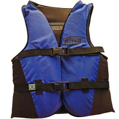 Colete Salva-Vidas Canoa Ativa Até 60kg Azul