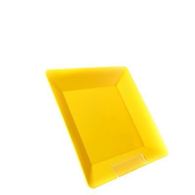 Conjunto de Pratos 4 Peças Martiplast PQC3840 Quadrado Amarelo