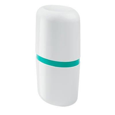Porta-escovas com Tampa Coza Full 10442/0129 Branca e Verde