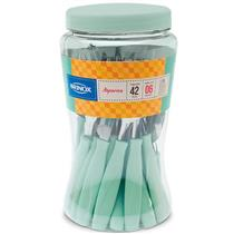 Conjunto de Talheres 42 Peças Brinox Itaparica 6000/794 Aço Inox e Plástico Menta