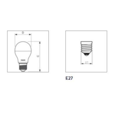 LAMPADA LED PHILIPS LED 6-40W 40WMVQ1C