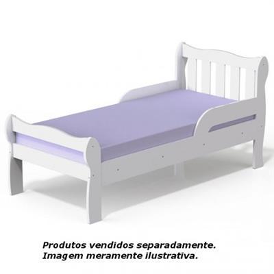 Cama Carolina Bella 6836 76x74x163cm MDF Branco Madeirado