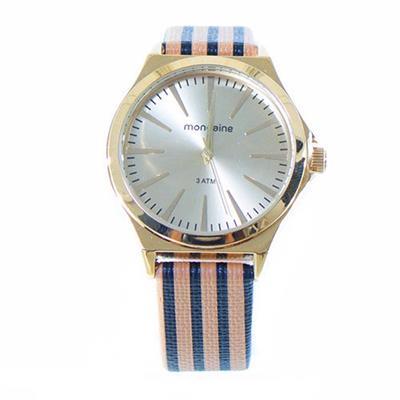 Relógio Feminino Mondaine 76686LPMVDH2K1 Analógico Pulseira de Couro Sintético Colorido com Kit
