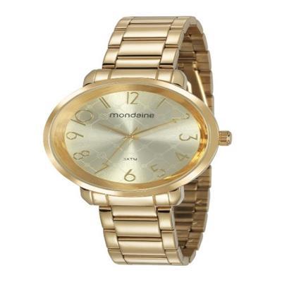 Relógio Feminino Mondaine 53657LPMVDE1 Analógico Pulseira de Aço Dourado