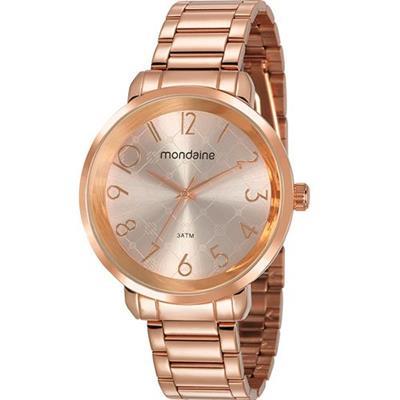 Relógio Feminino Mondaine 53657LPMVRE2 Analógico Pulseira de Aço Dourado
