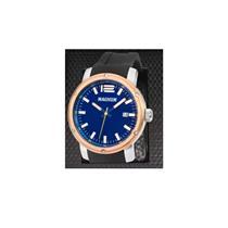 c5ffd0408fd Relógio Masculino Magnum MA34674O Analógico Pulseira de Silicone Preto com  Kit