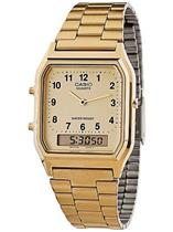 84048eacc30 Relógio Masculino Casio AQ230GA9BMQU Analógico Digital com Calendário  Alarme Cronômetro Aço Inoxidável Dourado