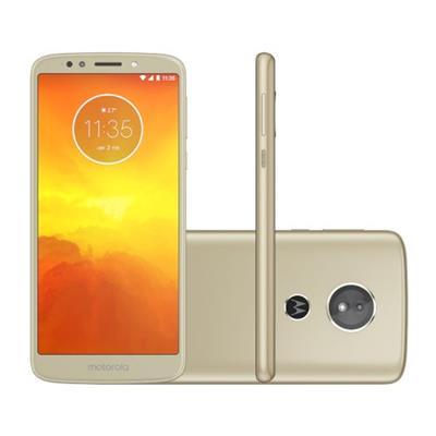 SMARTPHONE LIVRE MOTOROLA MOTO E5 XT1944 32GB, TELA 5.7, CÂMERA 13MP + 5MP FRONTAL, ANDROID 8.0 OREO, DOURADO