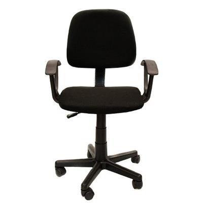 Cadeira para Escritório Giratória Latcor LC004-2 com Apoio para Braços e Rodas Preta