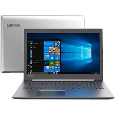NOTEBOOK LENOVO IDEAPAD 330-15IKB, TELA 15 HD, 4GB, 1TB, i3-6006U WINDOWS 10 PRATA