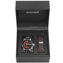 0178e5bbe63 Relógio Masculino Magnum MA31542Z Analógico Pulseira de Aço com Kit