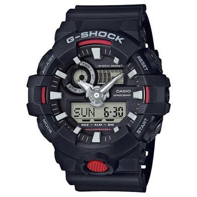 f007a352d03 Relógio Masculino Casio GA7001ADR Digital e Analógico Pulseira de Borracha  Preto