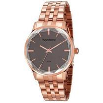 Relógio Feminino Mondaine 53642LPMVRE2 Analógico Pulseira de Aço Dourado