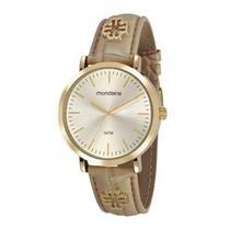 Relógio Feminino Mondaine 53653LPMVDH2 Analógico Pulseira de Aço Dourado