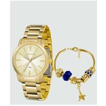 Relógio Feminino Lince LRG4506L KU51C1KX Analógico Pulseira de Aço Dourado