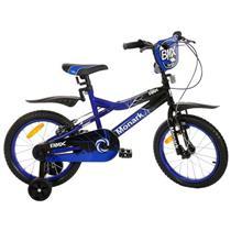 Bicicleta Monark BMX Ranger Aro 16 Aço Carbono Preta e Azul