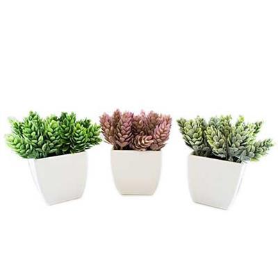 Conjunto de Plantas Artificiais 3 Peças Latcor BX-ASST17 Plástico