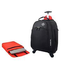 Mochila Samsonite MVS 464009060 com Rodas e Case Removível com Velcro para Laptop Poliéster Preta