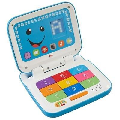Brinquedo Laugh and Learn Novo Laptop Aprender e Brincar Fisher Price Mattel CFP19 Plástico Colorido
