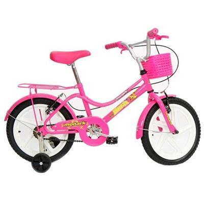Bicicleta Monark Brisa Aro 16 Aço Carbono Rosa