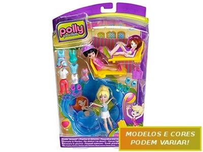 Conjunto Polly Pocket Nova Estação Mattel Polly X1452 Plástico