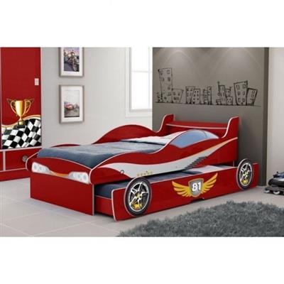 Bicama Gelius Enzo 70,5x94,5x203cm MDF Vermelho