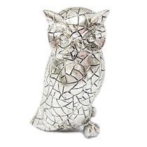 Adorno Coruja Latcor OY020-560632-2 Enfeite para Decoração Polirresina Prata