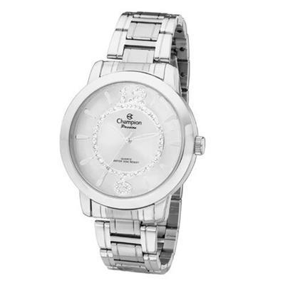 Relógio Feminino Champion CH24259S Analógico Pulseira de Aço Prata