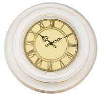 Relógio de Parede Redondo Latcor USH246C Borgonha com Maquinismo de Pequeno Volume Branco e Dourado