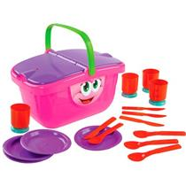 Brinquedo Cesta de Picnic Dismat MK264 Plástico Colorido
