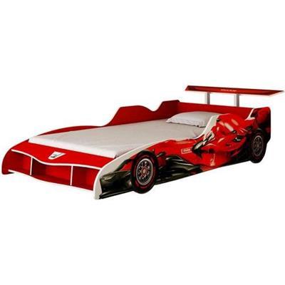 Cama Solteiro Fórmula 1 Gelius MDF Vermelho